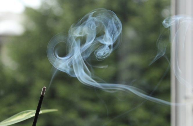 Photo of smoke from incense stick, by Susie.